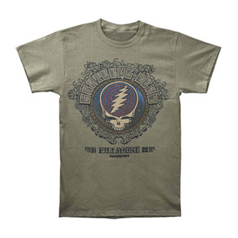 Grateful Dead Men's  Fillmore Slim Fit T-shirt Green