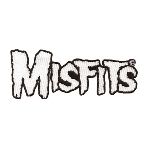 Misfits Men's Bone White Logo Embroidered Patch White
