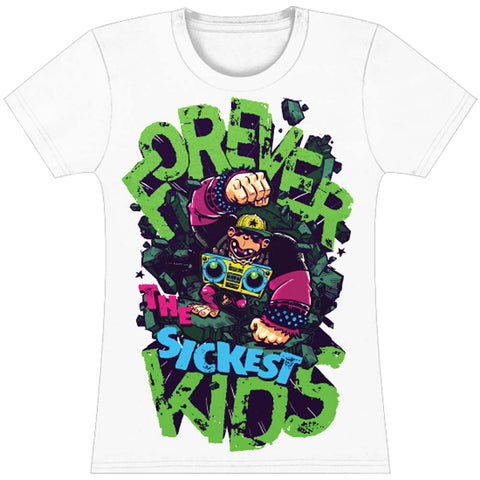 Forever The Sickest Kids  Kong Junior Top White