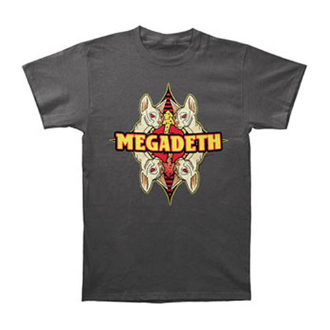 Megadeth Men's  Risk Mirror T-shirt Grey Rockabilia