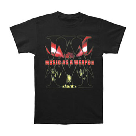 Disturbed Men's  Music As A Weapon 06-07 Tour T-shirt Black
