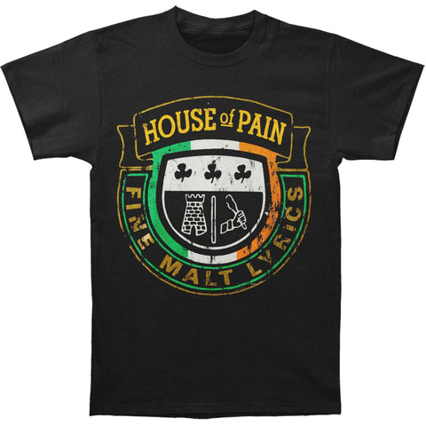 House Of Pain Men's  Crest Distressed T-shirt Black