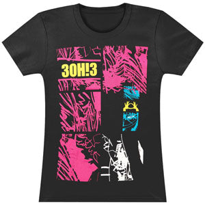 3OH!3  Forest Pieces Junior Top Black
