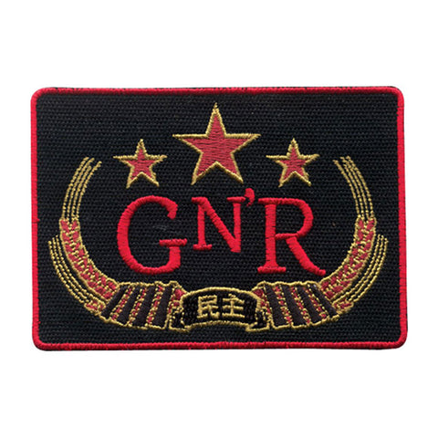 Guns N Roses Men's Chinese Democracy Embroidered Patch Black