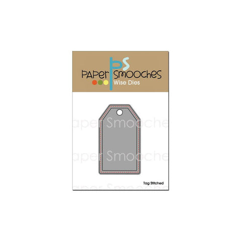 Paper Smooches stitched tag die