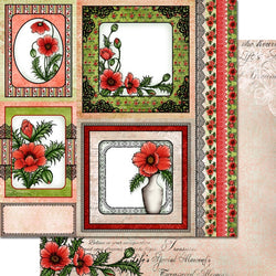 Heartfelt Creations - Blazing poppy paper pad - SAVE 30%