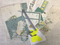 Junk journal bits and bobs - Eucalyptus