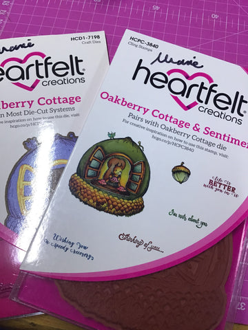 Heartfelt Creations Oakberry cottage stamps and dies