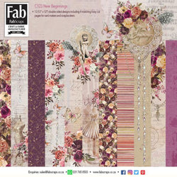 Fabscraps C123 New beginnings Paper pack (24 sheets)