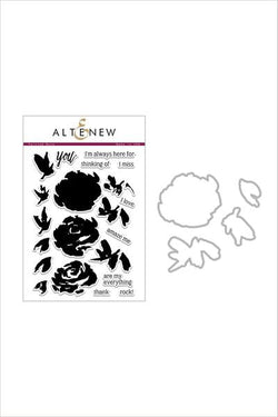 Altenew painted roses stamp and die bundle