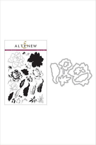 Altenew Peony Bouquet stamp and die bundle