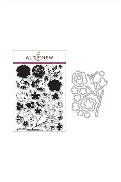 Altenew Vintage flowers stamp and die bundle