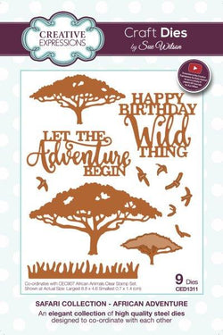 Creative expressions  - Safari African adventure die - CED1311