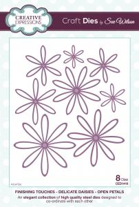 Creative expressions  CED1416 Delicate daisies open petal and complete petal (2 sets)