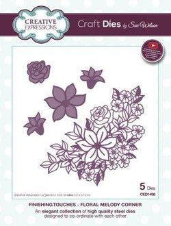 Creative Expressions  - Floral melody corner CED1498