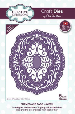 Creative expressions  - Avery frames and tags die - CED4364