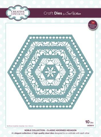 Creative expressions  CED5519 Classic adorned hexagon