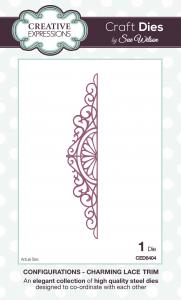 Creative expressions  CED6404  Charming lace trim