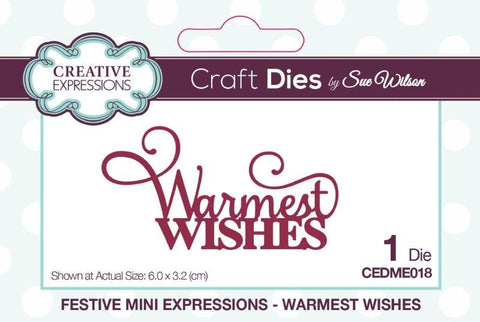 Creative Expressions mini expressions  - Warmest wishes CEDM1018