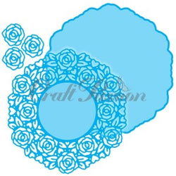Craft passion CP-65 Doily 3 roses