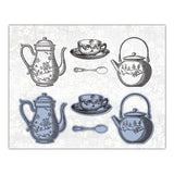 English Boutique stamp-and-die-set Tea set  CR000003