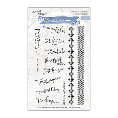 English Boutique stamp set sentiments CR000004