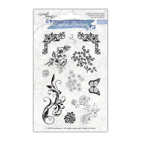 English Boutique stamp set  CR000005
