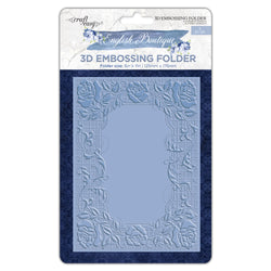 English Boutique 3D embossing folder Ornate flower  CR000007