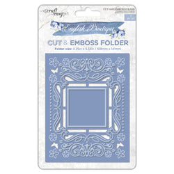 English Boutique cut & emboss folder Blossom frame 000008