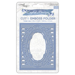 English Boutique cut & emboss folder Ornate frame CR000011
