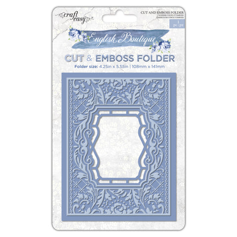 English Boutique cut & emboss folder Floral party CR000012