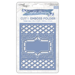 English Boutique cut & emboss folder Garden trellis CR000013
