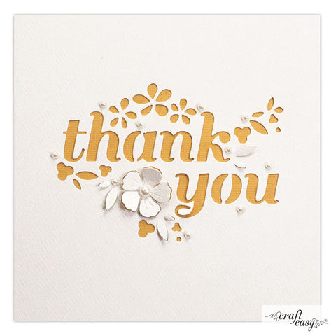 Craft Easy edge die - Thank you CR000040