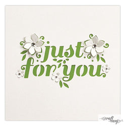 Craft Easy edge die - Just for you CR000041