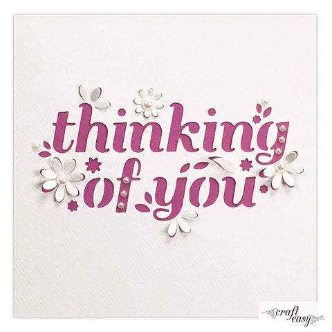 Craft Easy cut-in die - Thinking of you CR000042
