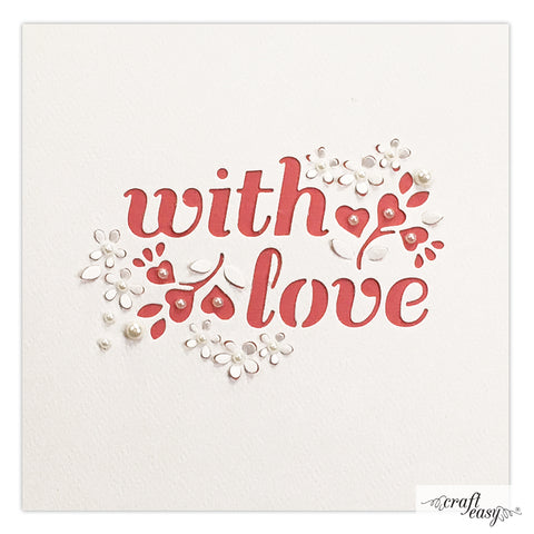 Craft Easy cut-in die - With love CR000043