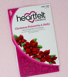 Heartfelt Creations - Christmas Poinsettia & Holly stamp and die set