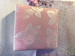 Album 20x20 cm - Soft fabric cover pink floral