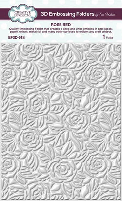 Creative Expressions 3D embossing folder Rose bed EF3D-018