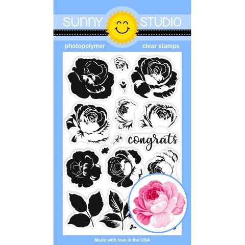 Sunny Studio Everything's rosy stamp and die bundle