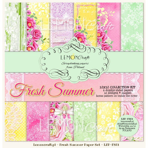Lemoncraft Fresh summer 12x12 paper pack