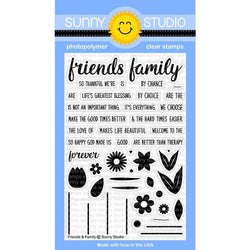 SS Family & friends with word dies