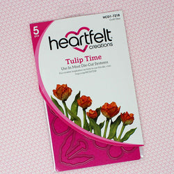 Heartfelt Creations - Tulip time stamp and die set