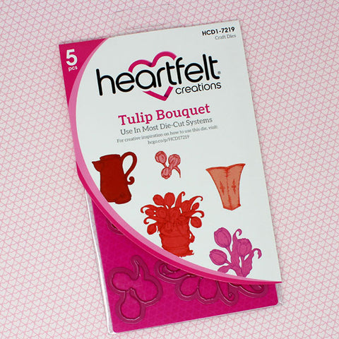 Heartfelt Creations - Tulip bouquet stamp and die set