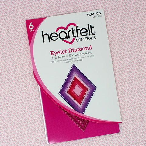 Heartfelt Creations -  Eyelet diamond die set