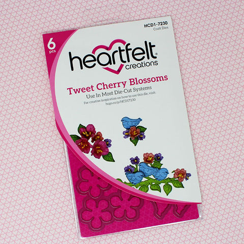 Heartfelt Creations Tweet cherry blossoms stamp and die set
