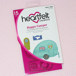 Heartfelt Creations -  Happy camper stamp and die bundle