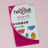Heartfelt  Creations my cup of tea stamp and die set