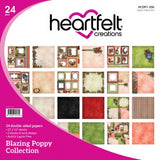 Heartfelt Creations paper collection -  Blazing poppy