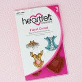 Heartfelt Creations - Floral corset stamp and die set - SAVE 30%